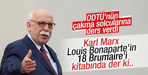 Nabi Avcı'dan ODTÜ'lülere Karl Marx önerisi