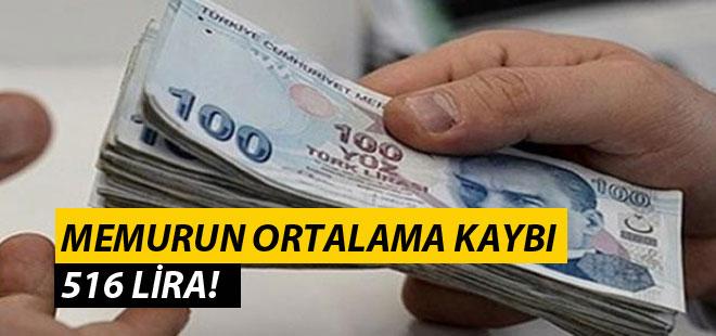 Memurun Ortalama Kaybı 516 Lira