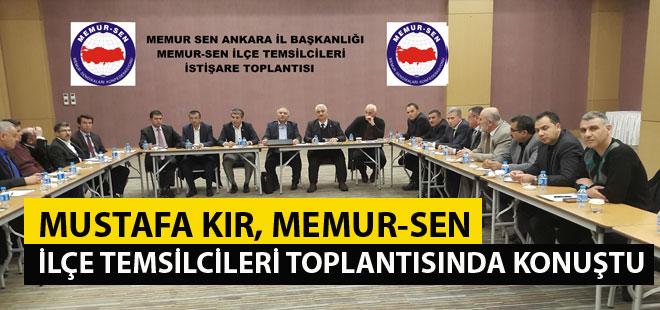 Mustafa Kır: Memur-Sen haksızlıkla mücadelenin en güçlü adresidir