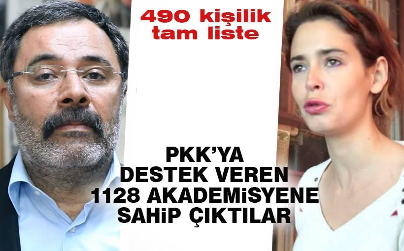 PKK sevici akademisyenlere destek verenlerin listesi