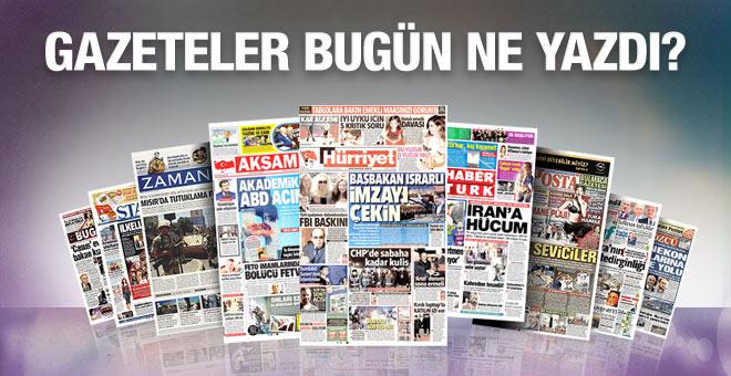 18 Ocak 2016 Gazete Manşetleri
