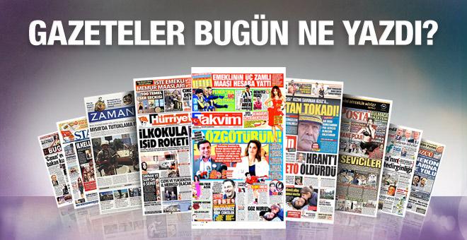 19 Ocak 2016 Gazete Manşetleri