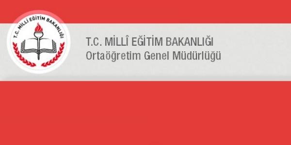 Ortaöğretim Genel Müdürlüğü 2016 Yılı İş Takvimi