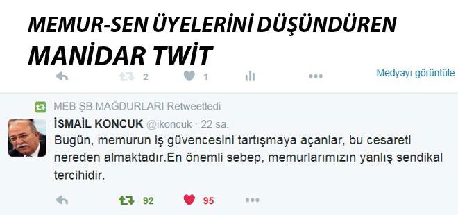 Memur-Sen Üyelerini Düşündüren Manidar Twit