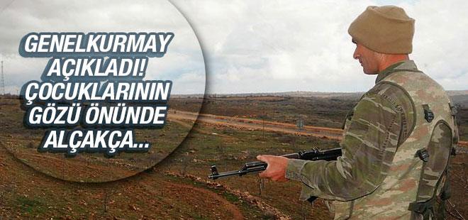 PKK çocuklarının gözü önünde şehit etti