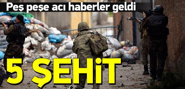Diyarbakır'dan acı haber: 5 şehit