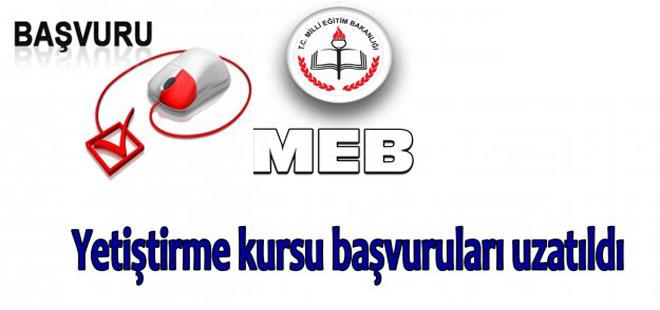 MEB Yetiştirme kursu başvuruları uzatıldı