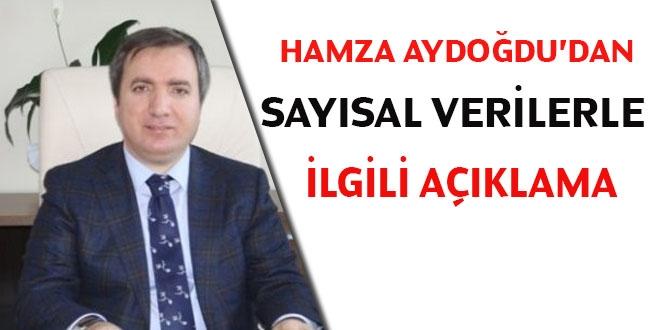 Hamza Aydoğdu'dan sayısal veri açıklaması