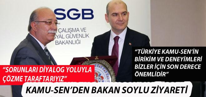 Türkiye Kamu-Sen'den Bakan Soylu'ya Ziyaret