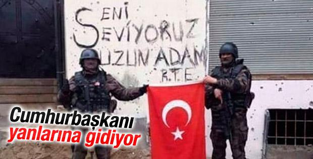 Erdoğan'dan Özel Harekatçılara ziyaret
