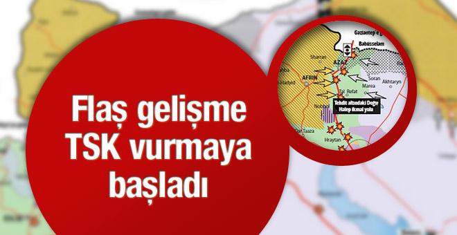 Azez krizinde flaş gelişme TSK YPG'yi vuruyor