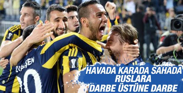 Fenerbahçe, Lokomotiv Moskova'yı 2-0 mağlup etti.