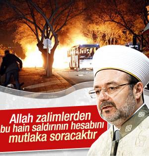 Mehmet Görmez Ankara'daki saldırıyı kınadı