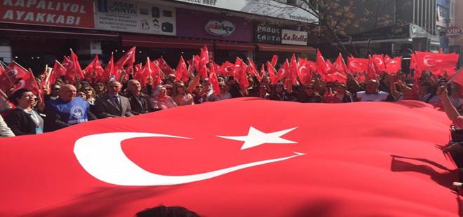 Türkiye-Kamu-Sen Terörü Protesto Etti