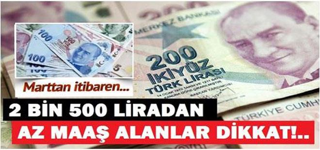2500 Liradan Az Maaş Alanlar Dikkat! Destek Başlıyor