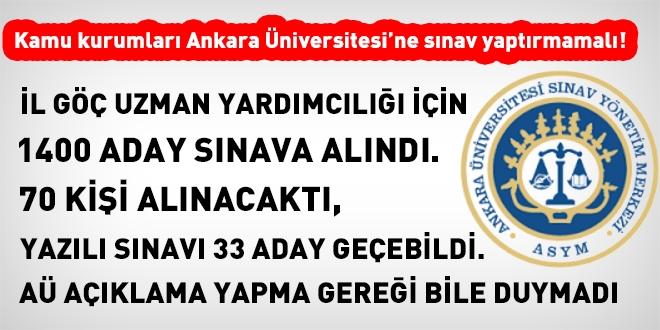 Ankara Üniversitesinden skandal niteliğinde zor sınav