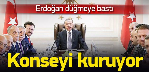 Erdoğan 50 kişilik 'Ekonomi Konseyi' kuruyor