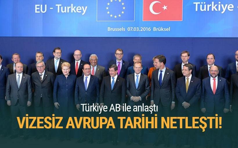 AB'den Türkiye'ye vize serbestisi!