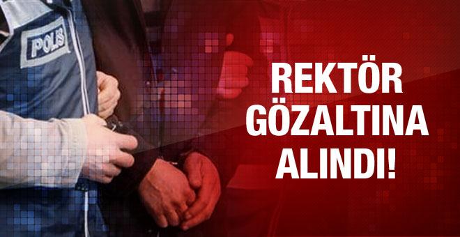 İzmir'de operasyon rektör gözaltına alındı