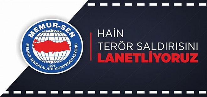 Memur-Sen'den Ankara Saldırısına Kınama
