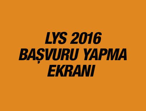 LYS başvuru yapma ekranı 2016 ÖSYM ais