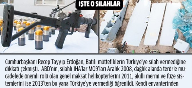 ABD PKK'ya destek Türkiye'ye köstek