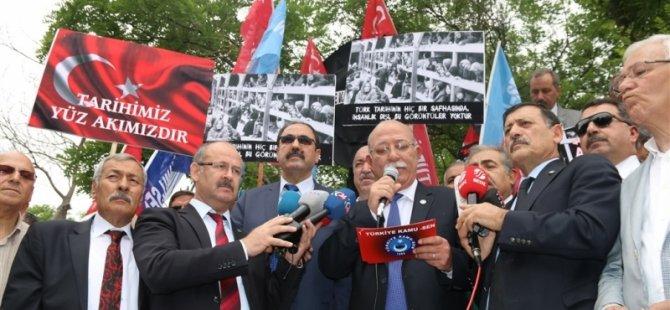 Memurlardan Almanya'ya Yumurtalı Protesto
