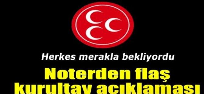 Ankara 13. Noterliği'nden 'MHP Kurultayı' açıklaması