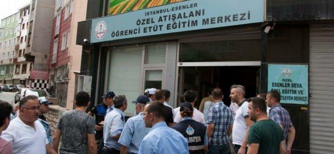 Esenler'de 5 eğitim merkezi kapatıldı