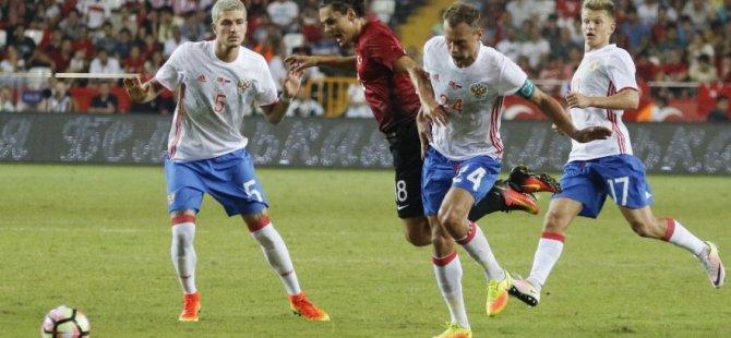Antalya'da dostluk kazandı - Türkiye-Rusya Hazırlık maçı