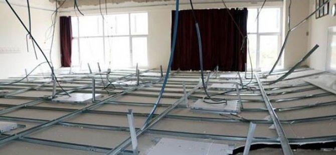 Derste sınıfın tavanı çöktü! Yaralılar var