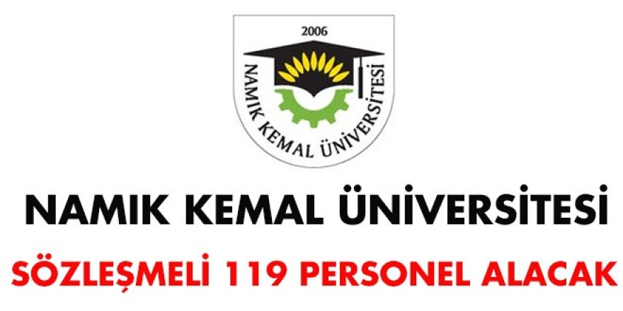 Namık Kemal Üniversitesi Sözleşmeli Personel Alım İlanı