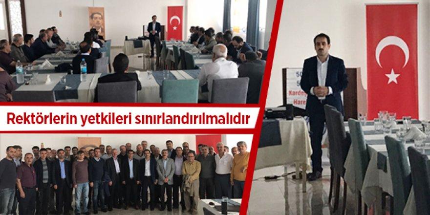 Ramazan Çakırcı: Rektörlerin Yetkileri Sınırlandırılmalıdır