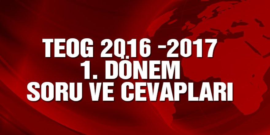 TEOG Türkçe soru ve cevapları | TEOG 2016 – 2017 1. Dönem