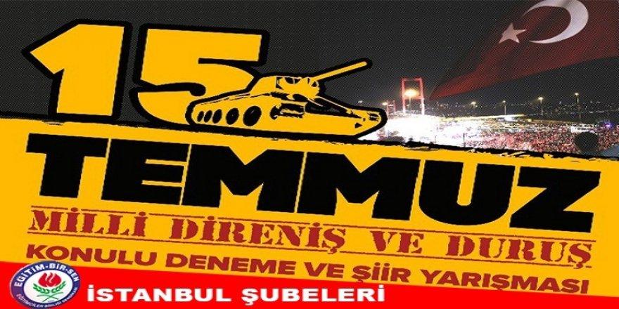 EBS İstanbul Şubelerinden 15 Temmuz Konulu Yarışma