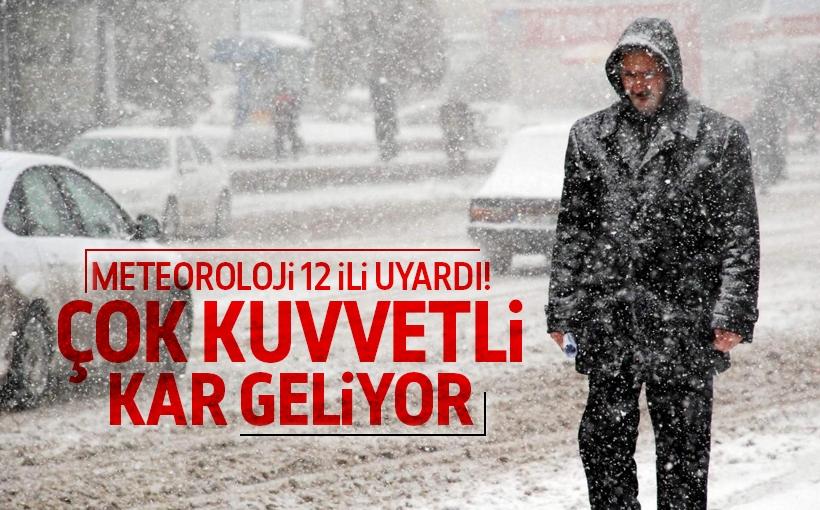12 ile kar uyarısı