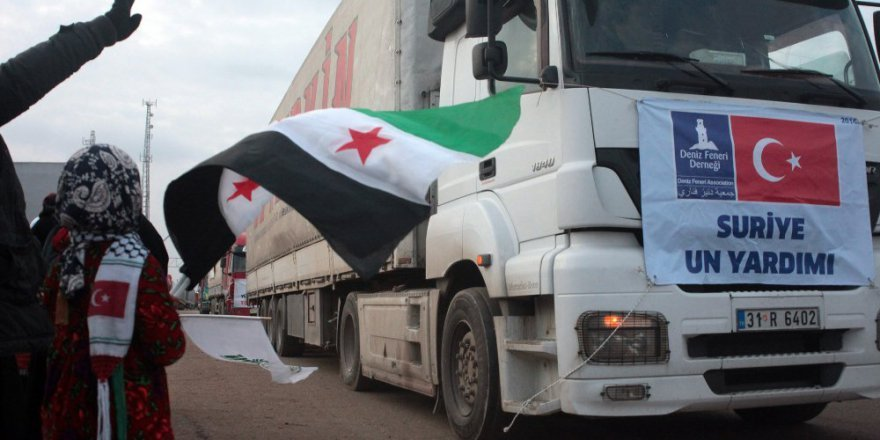 Yardım tırları Halep'e hareket etti