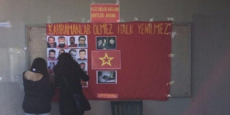 Üniversitede PKK kampını aratmayan görüntüler