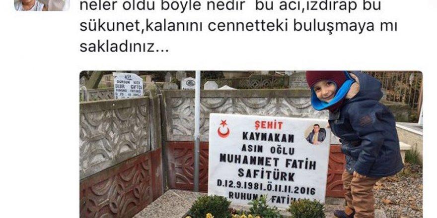 Şehit Kaymakam Safitürk'ün eşinin paylaşımı yürek burktu
