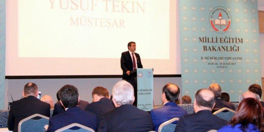 İl millî eğitim müdürleri toplantısı Antalya'da başladı