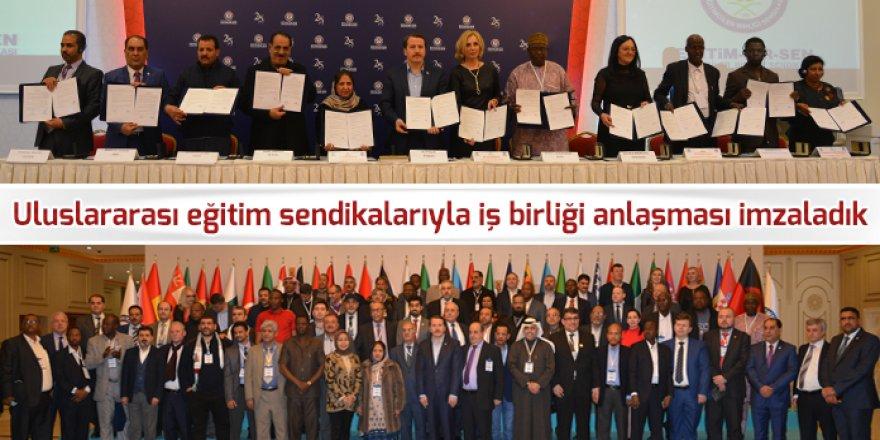 Eğitim-Bir-Sen, 41 Ülkenin Sendikalarıyla İş Birliği Anlaşması İmzaladı