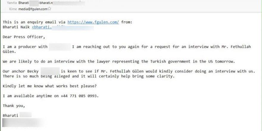 'Akıncılar' Gülen'in maillerini deşifre etti