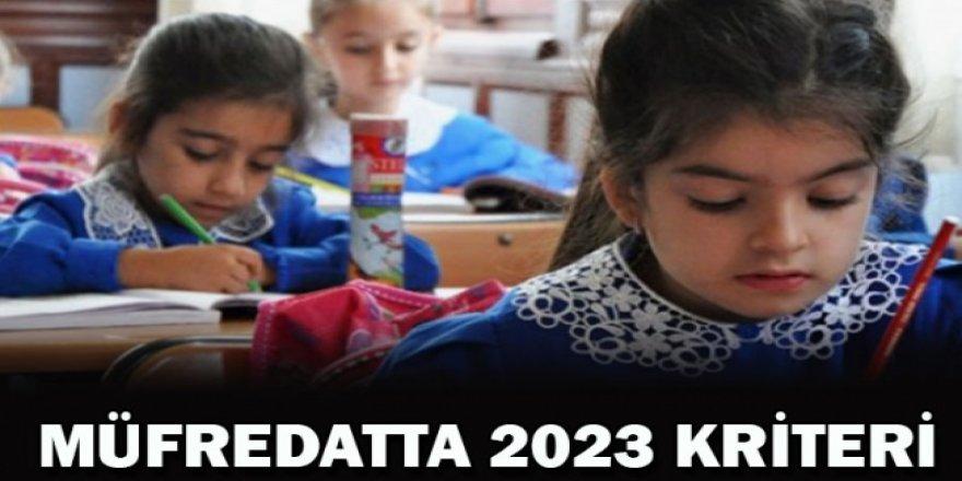 MEB Müfredatta 2023 kriteri