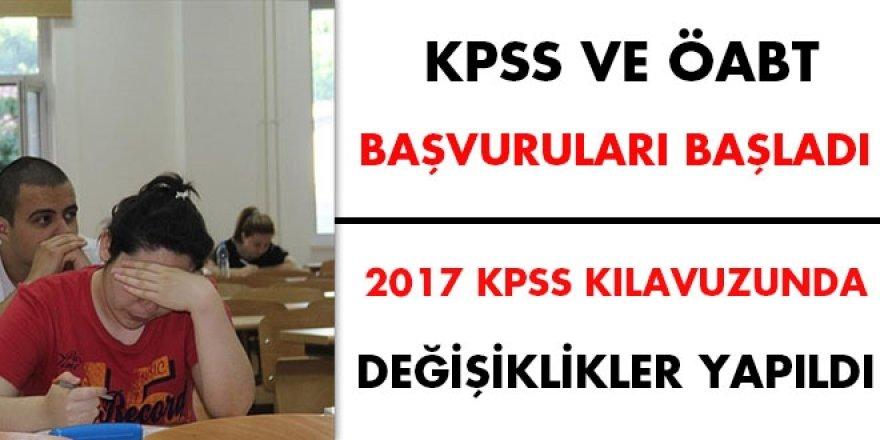 KPSS ve ÖABT başvuruları - 2017 KPSS kılavuzunda değişiklikler yapıldı