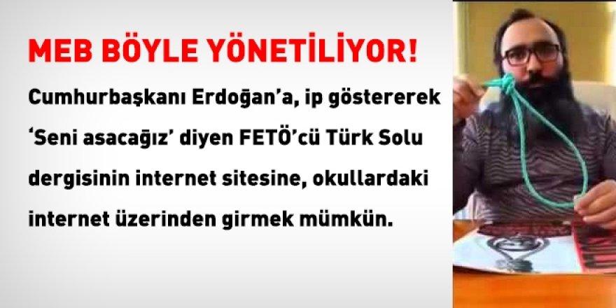 Gökçe Fırat'ın dergisi Türksolu açık ama kamu-eğitim siteleri yasaklı