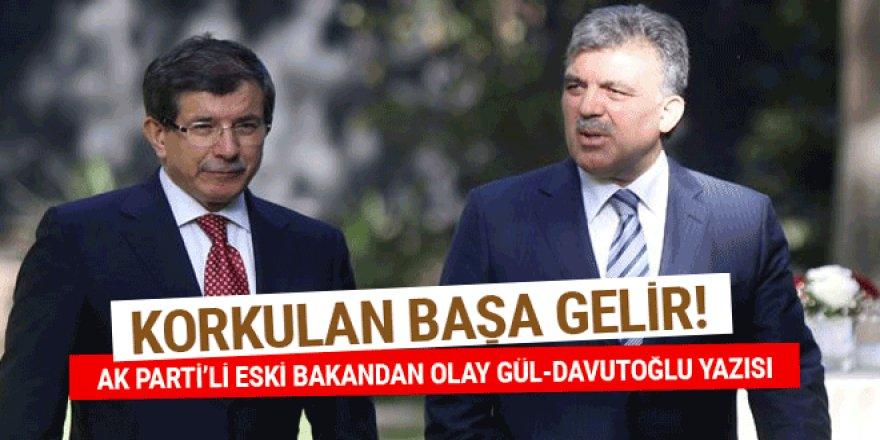Eski Milli Eğitim Bakanı Ömer Dinçer'den olay Gül-Davutoğlu yazısı!