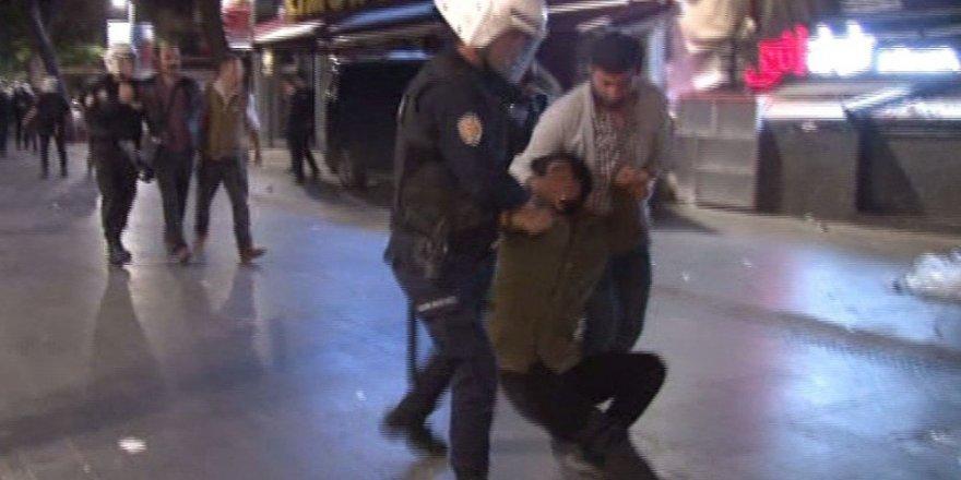 KHK protestosuna polis müdahale etti: 12 gözaltı