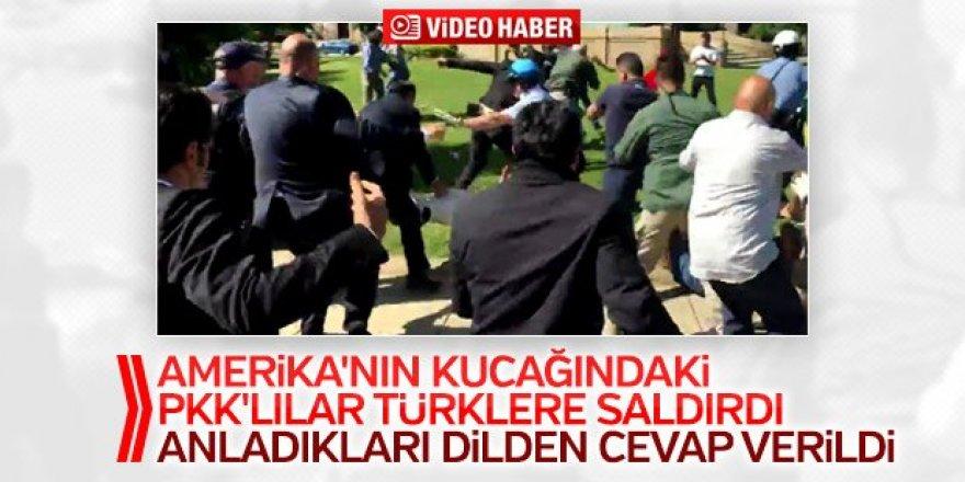 Erdoğan'ın korumalarından PKK'lılara meydan dayağı