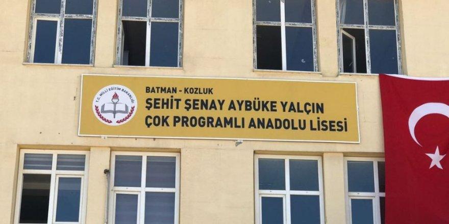 Aybüke öğretmenin ismi görev yaptığı okula verildi