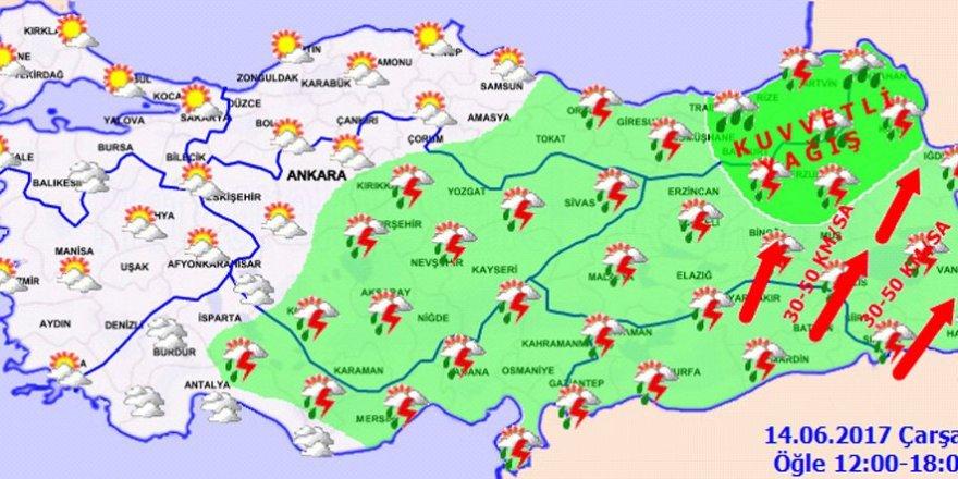 Hava durumu 14 Haziran 2017